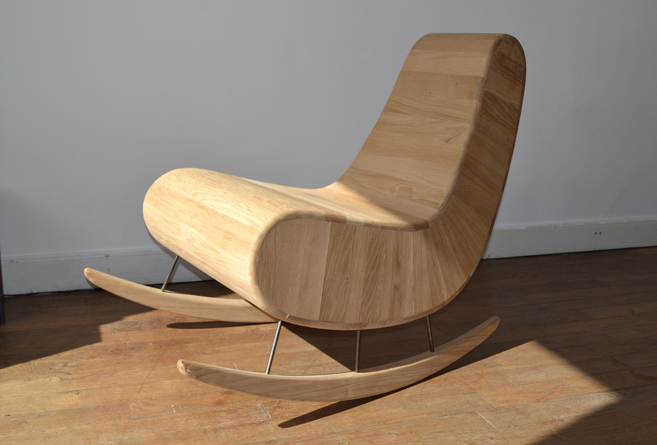 Fauteuil rocking chair bois design thierry marc - Fauteuil rocking chair design ...